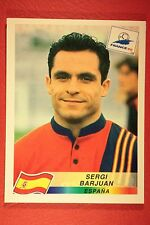 PANINI WC WM FRANCE 98 1998 235 ESPANA BARJUAN WITH BLACK BACK MINT!!