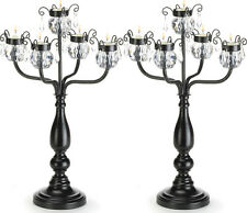 "2 Candelabra Candle Holder - Black Extra Large Wedding Centerpieces 17""Tall NEW"