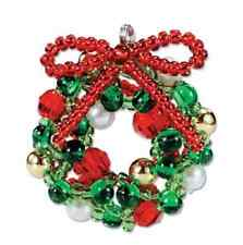 MIYUKI MASKOT KIT XMAS WREATH Stocking Filler jewellery making kit