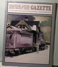 NARROW GAUGE & SHORT LINE GAZETTE  Jan/Feb 1987 NG&SLG