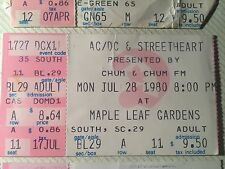 ac/dc and street heat concert ticket 1980