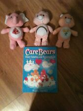 Lot Of 3 Care Bears/Cousins Friendship, Plaid Cheer, Lotsa Heart, +Coloring Book
