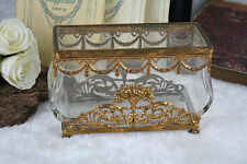 Antique Baccarat Ormulu & Crystal glass perfume flacons caddy louis XVI 19th c