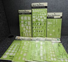 Berol RapiDesign Professional Template Lot Drafting Stencils 9x NOS Vintage