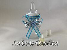 12 Baby Shower Favors Blue Fillable Baby Bottles Party Decorations For Boy