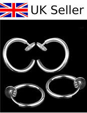8 Clip On Fake Piercing Nose Lip Hoop Rings Earrings Fashion Decoration UK NEW