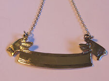 BANNER/RIBBON STERLING SILVER LIQUOR TAG BLANK - NEW