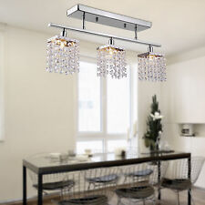 Modern Dining Room Crystal Rain Drop Chandelier 3 Light Pendant Lamp Ceiling
