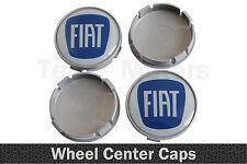 4 x 58mm / 55mm FIAT Silicone Emblem Logo Wheel Rims Center Caps