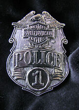 HARLEY-DAVIDSON #1 MOTORCYCLE POLICE BADGE BELT BUCKLE