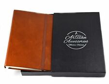Genuine Leather Travel Journal, Notebook & Sketchbook with Unlined Pages
