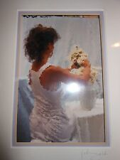 John Galbo Signed Matted Impressionism Woman Print