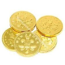 100 X  Large Gold Coins Milk Chocolate Wedding Favours