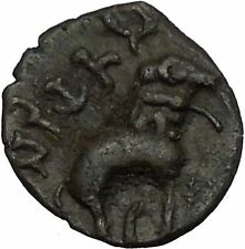Ancient India SATAVAHANA Empire 177AD Authentic Greek Style Coin Elephant i52350