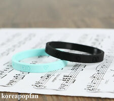 2pics EXO KPOP wristband EXODUS SING FOR YOU LOVE ME RIGHT FROM PLANET LUXION