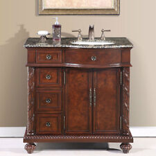 36-inch Single Bathroom Vanity Off Center Right Sink Stone Top Cabinet 0213BB