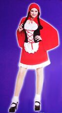 Womens Little Red Riding Hood Storybook Halloween Costume Purim Dress S M L NEW