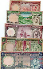 1396H Kingdom of Saudi Arabia Banknotes Collection  Full Issue King FAISAL VF++