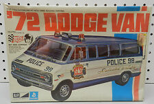 1972 DODGE DRAG RACE VAN MPC MODEL KIT POLICE STOCK NOS MOPAR 72 BOYS RARE