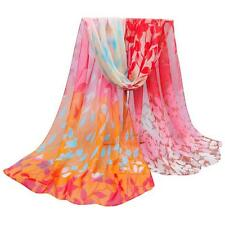 Women Silk Printed Scarves Girls Soft Chiffon Shawl Wrap Wraps Scarf Scarves