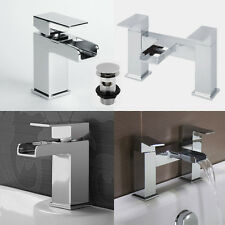 Tap Bathroom Waterfall Mixer Basin Bath Filler Taps Chrome Wash Sink Bathtub