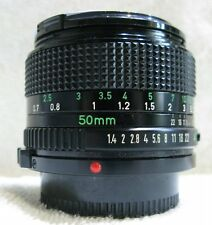 Canon  50mm  f1.4  Prime  Lens , Canon FD Mount , V/Good,