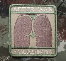 AFTER WAR FINAL DESTINATION BADGE MILITARY MULTICAM VELCRO® BRAND FASTENER PATCH