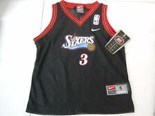 VINTAGE 90'S NIKE PHILADELPHIA 76ERS ALLEN IVERSON JERSEY YOUTH SIZE 5 NEW TAGS