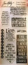 Tim Holtz ~ Phrases 2 ~ Cling Mount Stamp Set ~ NIP