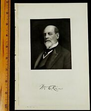 WILLIAM ELLIS RICE Ware MA Steel Engraving 1917 PRINT Massachusetts PORTRAIT
