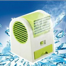 Mini Fan USB/Battery Cooling Portable Dual Bladeless Air Condition Sealing Clip
