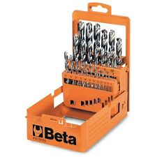 Beta Tools 412/SP19 Set of 19 Twist Drills with Cylindrical Shanks Short Series