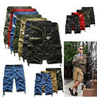 HOT Men's Casual Army Cargo Combat Camo Camouflage Overall Shorts Sports Pants