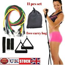 11pcs exercise resistance band set yoga fitness pilates workout training bandes