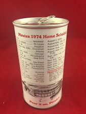 VINTAGE IRON CITY BEER CAN-PITTSBURGH PIRATES 1974 HOME SCHEDULE-CAN 17 OF 29