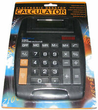 LARGE BATTERY AND SOLAR POWERED CALCULATOR - 8 DIGIT - BIG BUTTONS - OFFICE DESK