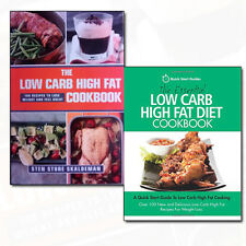 The Low Carb High Fat Cookbook Collection 2 Books Set Pack Diet Cookbook NEW