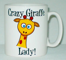 Crazy Giraffe Lady Mug Can Be Personalised Funny Animal Lover Zoo Beware Gift