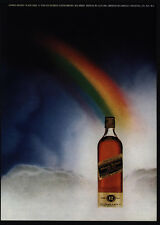 1972 JOHNNIE WALKER Scotch Bottle At The End Of The Rainbow - VINTAGE AD