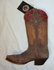 Star W7144 Size 8.5B Womens Indian Head Western Cowgirl Boots DISTRESSED BROWN