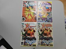 X-Men Comic lot of 4! #'s199,204 and 206x2! VF8.0+! Copper age Marvel beauties!