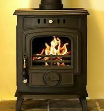 Hamco Glenbarrow Cast Iron Multi Fuel Wood Burning Glass Door Stove Fire New 6kW