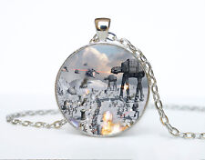 Star Wars Photo Cabochon Glass Tibet Silver Chain Pendant Necklace AAA26
