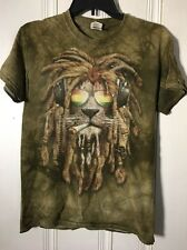 The Mountain T-Shirt Lion Dreadlocks Headphones Men's Size Small