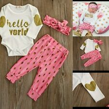 Bonjour world tenue 3/6 mois baby girl clothing set headbandpink blanc mignon uk