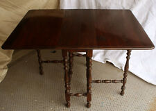 Antique Brandt Walnut Wood Wooden Drop Leaf Gateleg Gate Leg Dining Room Table