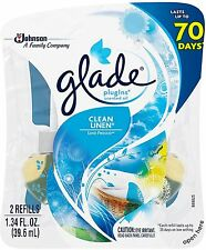 GLADE PlugIns Scented Oil Refill, Clean Linen 2 ea (Pack of 2)