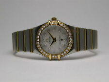 OMEGA CONSTELLATION DIAMOND BEZEL MOTHER OF PEARL SS & 18K GOLD STYLE #6553/865