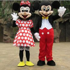 Adult Mickey And Minnie Mouse Mascot Costume Party Outfit 2pieces EVA Head