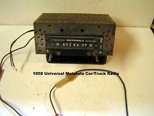 1958 Universal Motorola Car/Truck Radio  Model 8MX  Manual Tuning  AM 12v